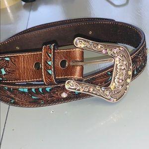 Ariat turquoise rhinestone belt